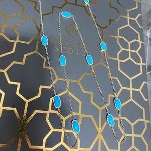 NWOT Kendra Scott Kellie Turquoise Gold Necklace